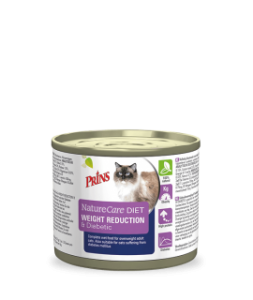 Prins Diet Weight Reduction & Diabetic konservai katėms turinčioms antsvorio arba sergančioms cukriniu diabetu 200g