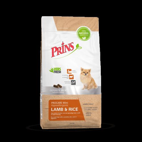 Prins ProCare Mini Lamb & Rice Hypoallergic sausas maistas suaugusiems mažų veislių šunims turintiems jautrią odą ir kailį, 15kg