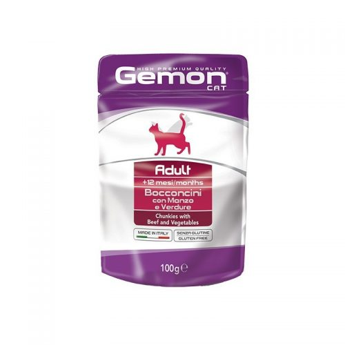 Konservas katėms Gemon Adult (beef&vegetables), 100g
