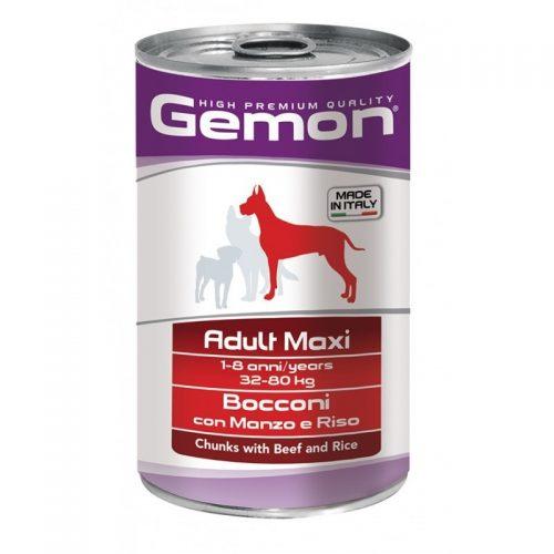 Konservas šunims Gemon maxi adult konservai (jautiena ir ryžiai), 1250g