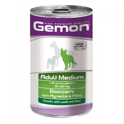 Konservas šunims Gemon medium adult konservai (ėriena ir ryžiai), 1250g