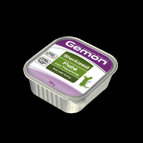 Konservuotas paštetas Gemon Sterilised Adult (kalakutiena), 100g