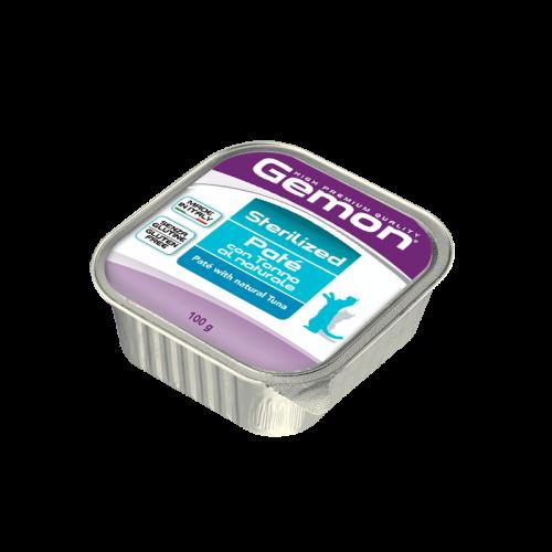 Konservuotas paštetas Gemon Sterilised Adult (tuna), 100g