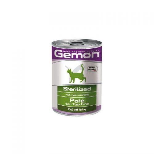 Konservai katėms Gemon Sterilised Adult (turkey), 400g
