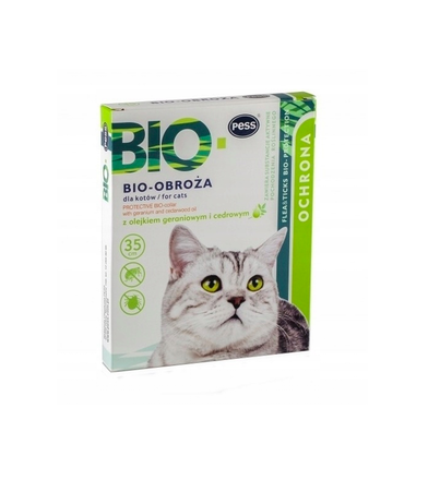 Antkaklis nuo parazitų katėms Pess Bio-Protection, 35cm