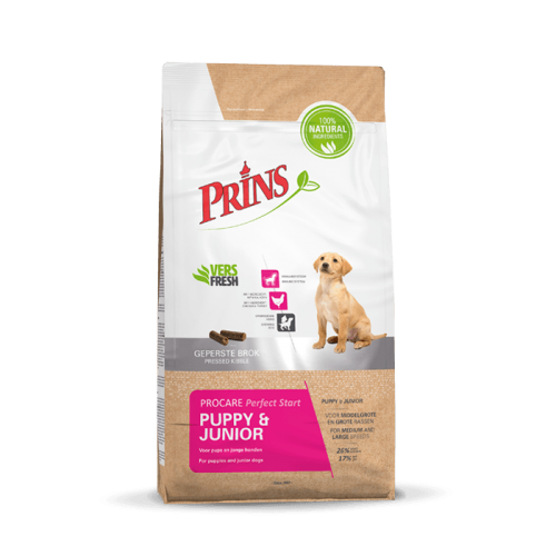 """Sausas pašaras šuniukams ir jauniems šunims """"Prins ProCare Puppy Junior Perfect Start"""", 20kg"""