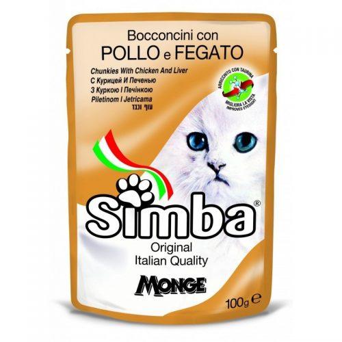Konservai katėms Simba (chicken&liver), 100 g