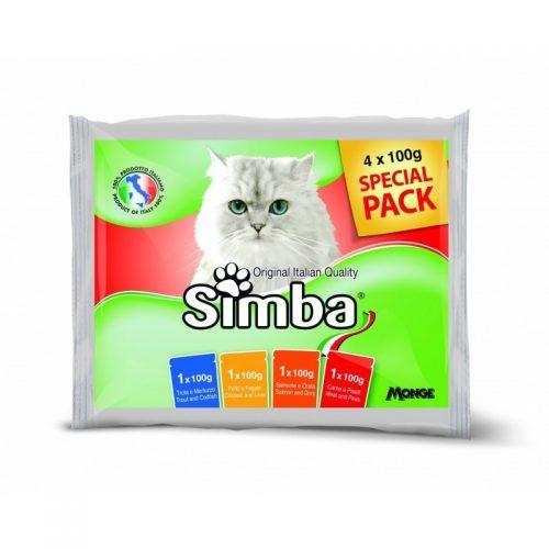 Konservai katėms Simba mix, 4×100 g
